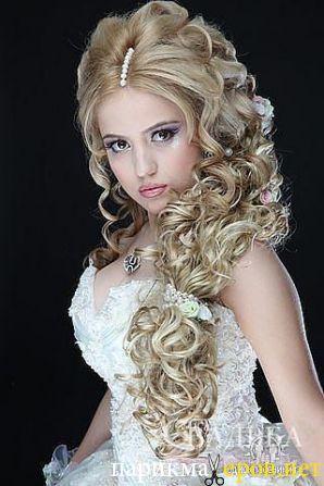 Прическа для свадьбы на длинные волосы фото