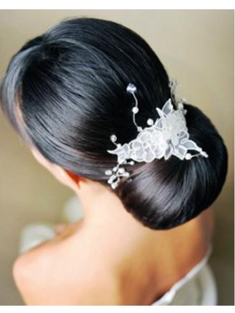 Прически на свадьбу черные волосы