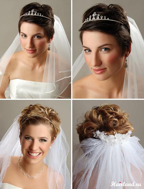 Свадебные причёски на короткие волосы картинки